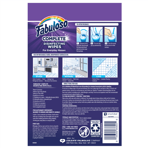 Fabuloso complete wipes ecomm tiles checklist
